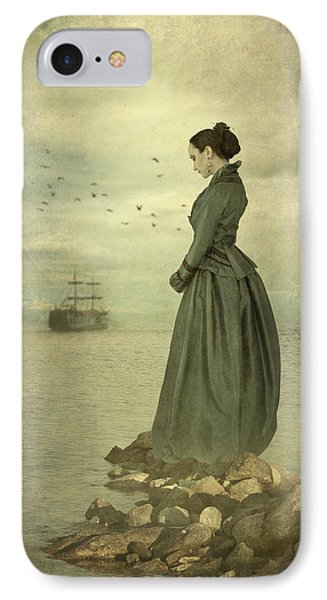 IPhone Case featuring the photograph Woman Looking Out To Sea by Ethiriel  Photography