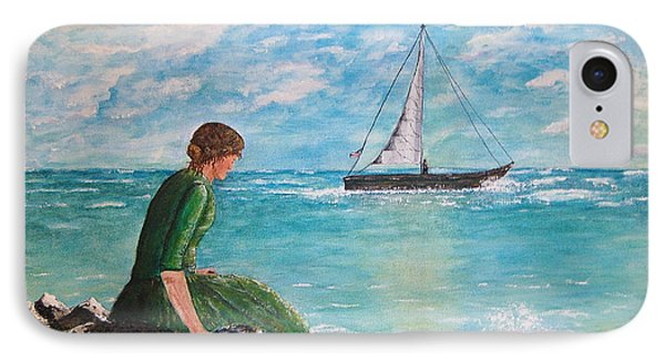 Woman Looking Out To Sea IPhone Case by Tamyra Crossley
