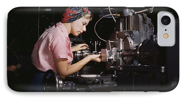 Woman Machinist At The Douglas Aircraft IPhone Case by Stocktrek Images