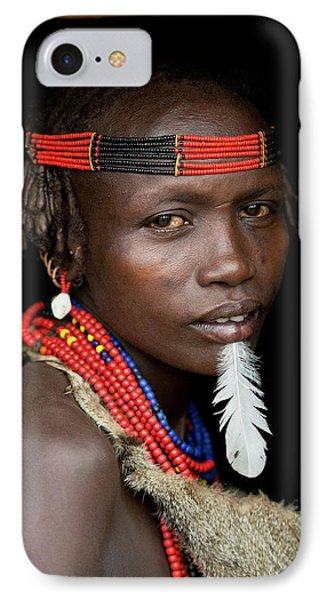 Woman Of The Dassenech Tribe IPhone Case by Tony Camacho