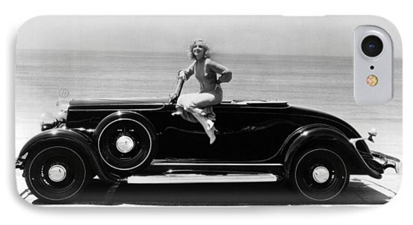 Woman On A Hupmobile IPhone Case