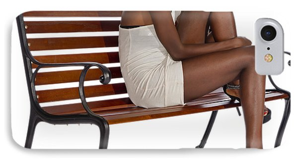 Woman On A Park Bench IPhone Case by Jim Boardman