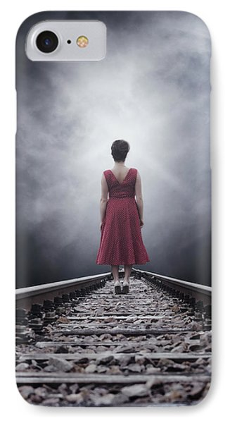 Woman On Tracks Phone Case by Joana Kruse