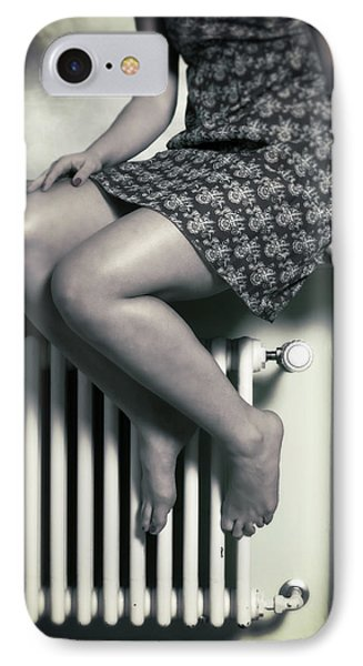 Woman On Window Sill IPhone Case