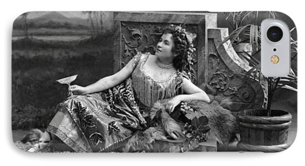 Woman Reclining In Luxury IPhone Case by Underwood Archives