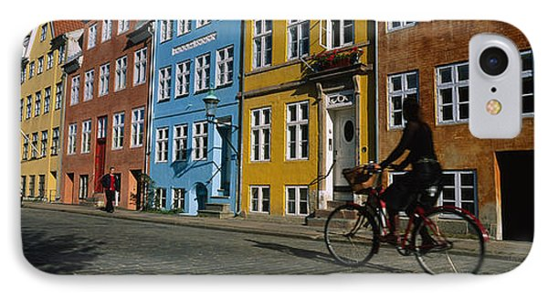 Woman Riding A Bicycle, Copenhagen IPhone Case by Panoramic Images