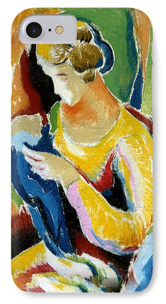 Woman Seated Holding A Baby IPhone Case