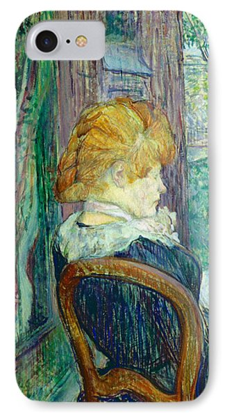 Woman Sitting In A Garden IPhone Case
