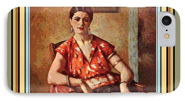 Woman Sitting In Chair Phone Case by Gary Grayson