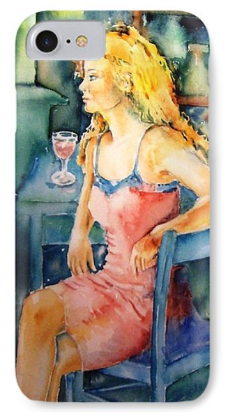 Woman Waiting  Phone Case by Trudi Doyle
