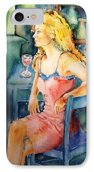 IPhone Case featuring the painting Woman Waiting  by Trudi Doyle