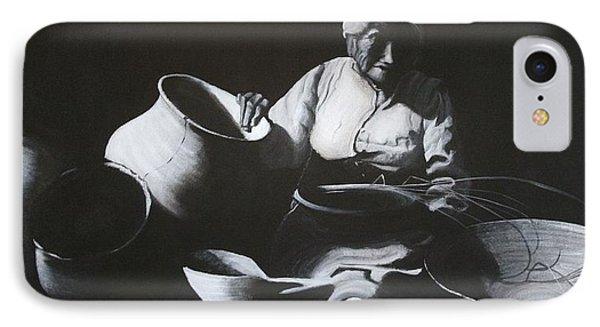 Woman Weaving A Basket IPhone Case