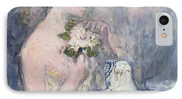 Woman With A Bouquet IPhone Case by Pierre Laprade