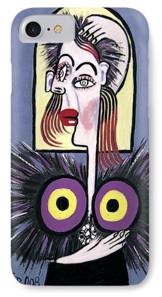 Woman With A Fake Mink Phone Case by Anthony Falbo