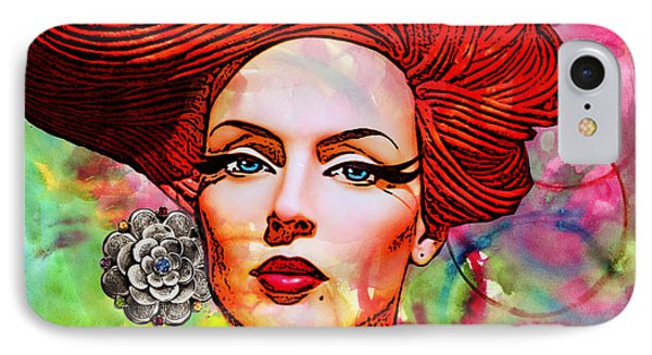 Woman With Earring Phone Case by Chuck Staley