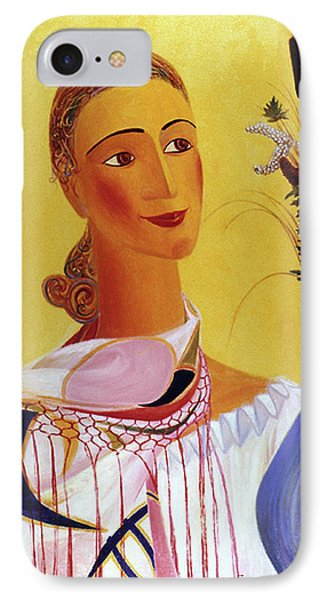Woman With Shawl Phone Case by Israel Tsvaygenbaum