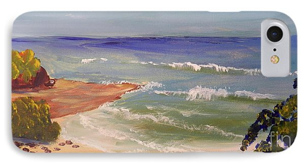 IPhone Case featuring the painting Wombarra Beach by Pamela  Meredith