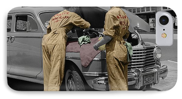 Women Auto Mechanics Phone Case by Andrew Fare