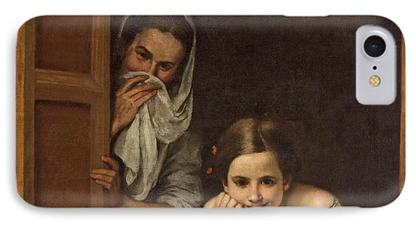 Women From Galicia At The Window IPhone Case by Bartolome Esteban Murillo