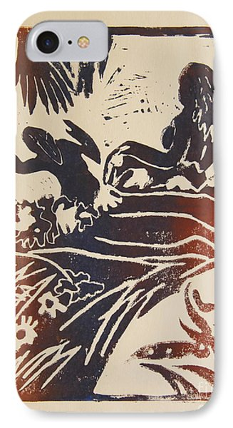 Women I A La Gauguin IPhone Case by Christiane Schulze Art And Photography