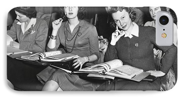 Women In Airline Class IPhone Case by Underwood Archives