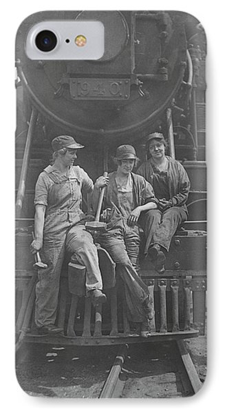 Women Laborers Seated On Front IPhone Case by Stocktrek Images