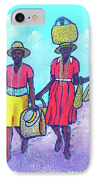 Women On Beach At Grenada IPhone Case by Frank Hunter