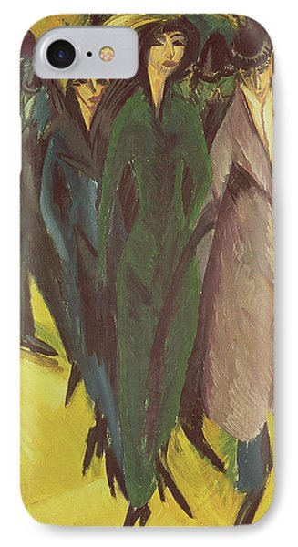 Women On The Street IPhone Case by Ernst Ludwig Kirchner