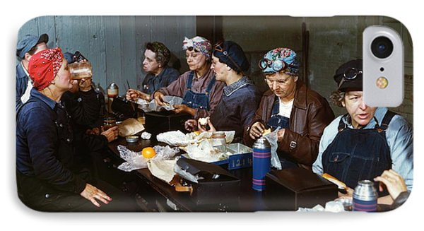 Women Railway Workers At Lunch IPhone Case by Library Of Congress