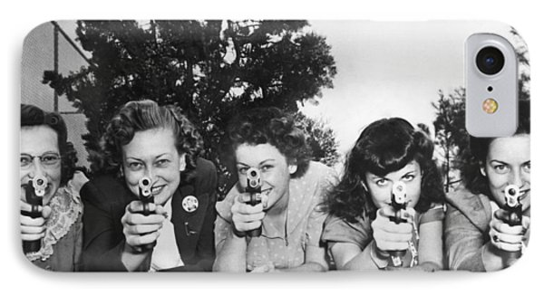 Women Take Weapons Training IPhone Case by Underwood Archives