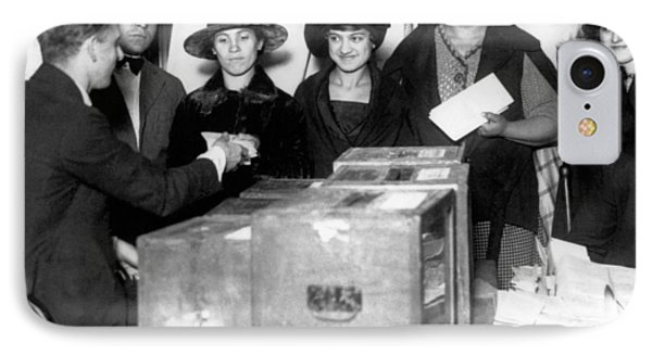 Women Voting For First Time IPhone Case by Underwood Archives