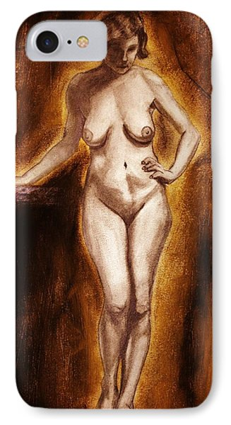 IPhone Case featuring the drawing Women With Curves Are Beautiful 2 by Michael Cross
