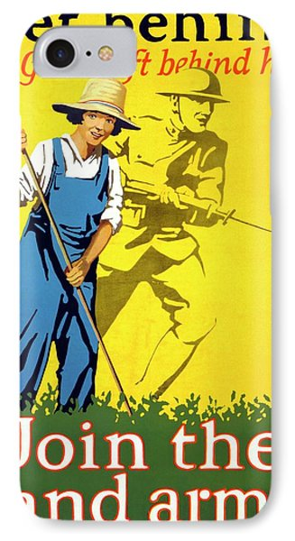 Women's Land Army Recruitment Poster IPhone Case by Library Of Congress