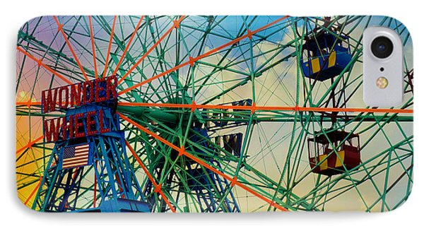 Wonder Wheel IPhone Case by Lilliana Mendez