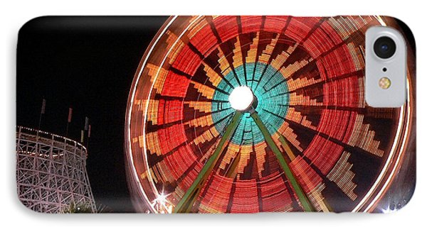 Wonder Wheel - Slow Shutter IPhone Case by Al Powell Photography USA