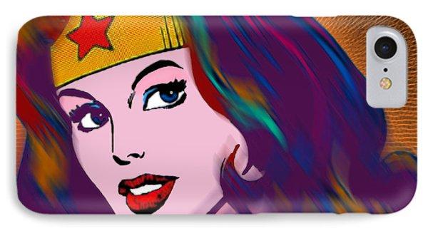 Wonder Woman Pop IPhone Case by Tony Rubino