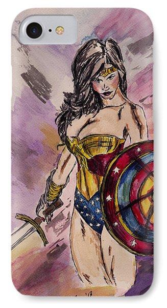 Wonder Woman IPhone Case by Sheena Pape
