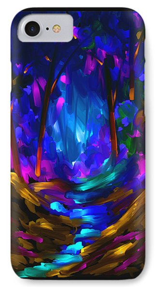 IPhone Case featuring the painting Wondering In The Dream by Steven Lebron Langston