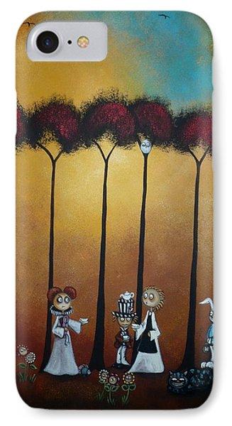 Wonderland Tea Party IPhone Case by Charlene Zatloukal