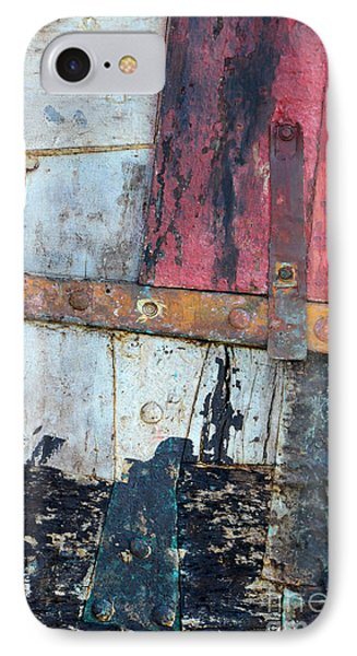 Wood And Metal Abstract Phone Case by Jill Battaglia