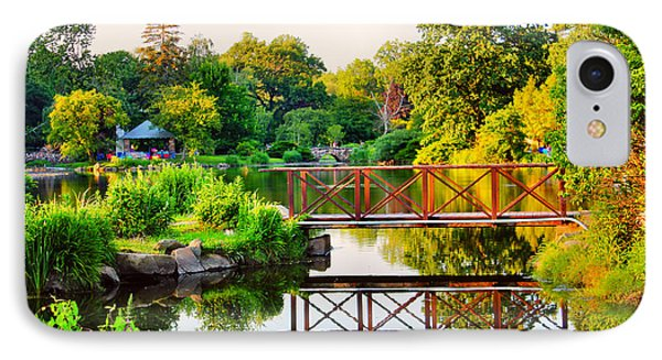 Wood Bridge Reflection IPhone Case by Judy Palkimas