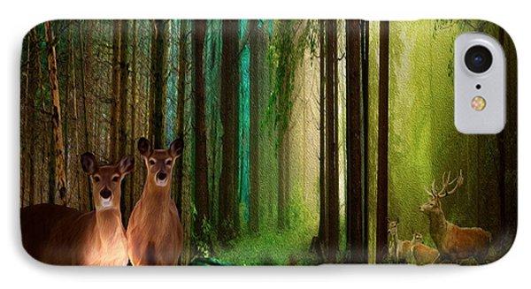 Wood Deer IPhone Case