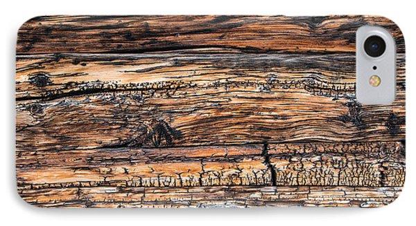 Wood Detail - Chalet In Switzerland IPhone Case by Matthias Hauser