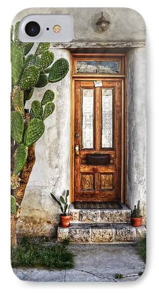 IPhone Case featuring the photograph Wood Door In Tuscon by Ken Smith