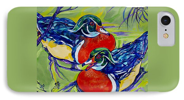 Wood Duck 2 Phone Case by Derrick Higgins