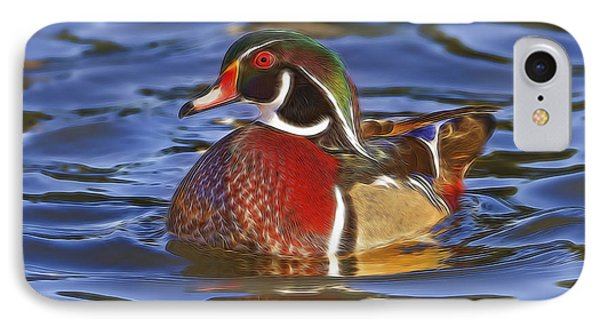 Wood Duck  IPhone Case by Brian Cross