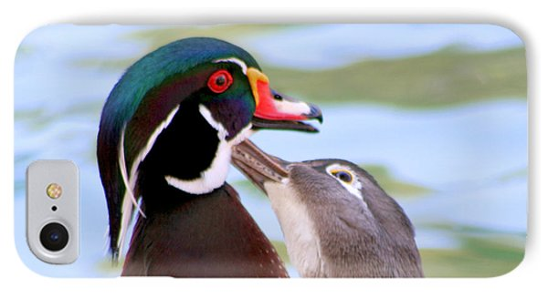 Wood Duck Love Phone Case by Bob and Jan Shriner