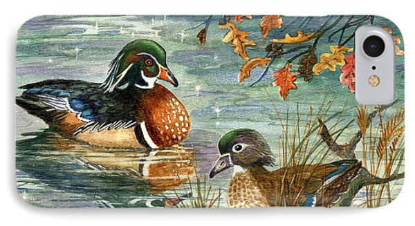 Wood Duck Pair IPhone Case by Marilyn Smith