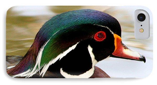 IPhone Case featuring the photograph Wood Duck Portrait by Bob and Jan Shriner