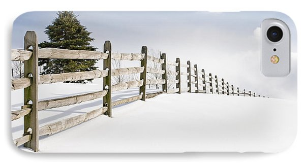 Wood Fence - Old Wood Fence In The Pristine White Snow IPhone Case by Gary Heller